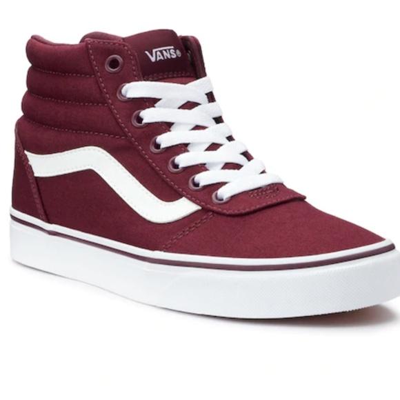 Vans Shoes   New Vans Burgundy Red Ward